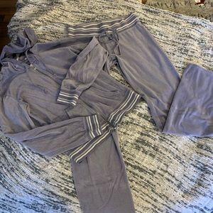 Victoria Secret velour sweatpants outfit athletic